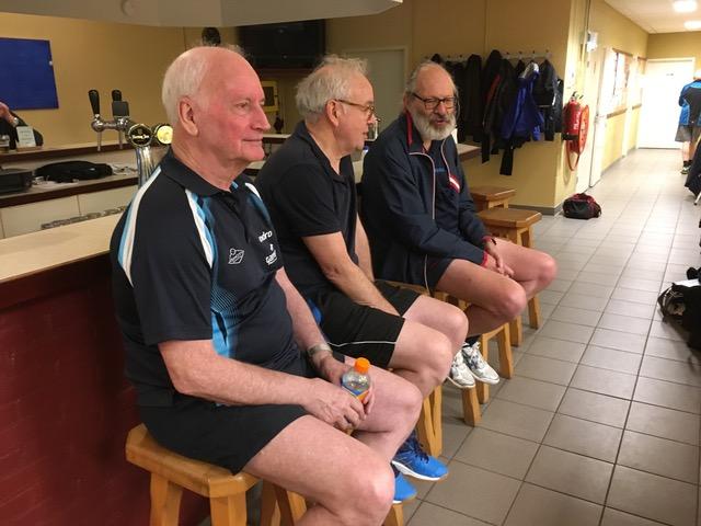 Deelnemers 50+ toernooi v.l.n.r. Hein, John en Berend