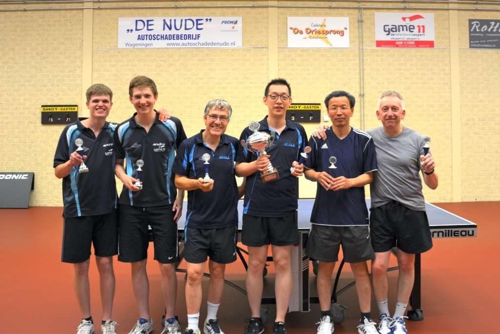 Clubkampioenen senioren 2018 TTV Shot Wageningen