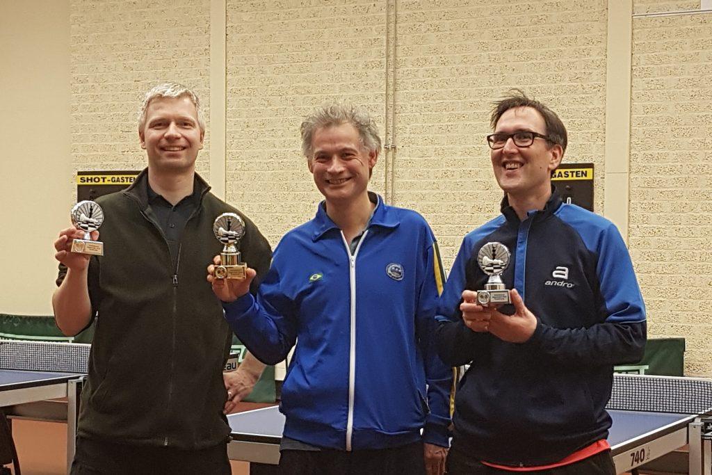 Winnaars schafeltennistoernooi 2020 Wageningen