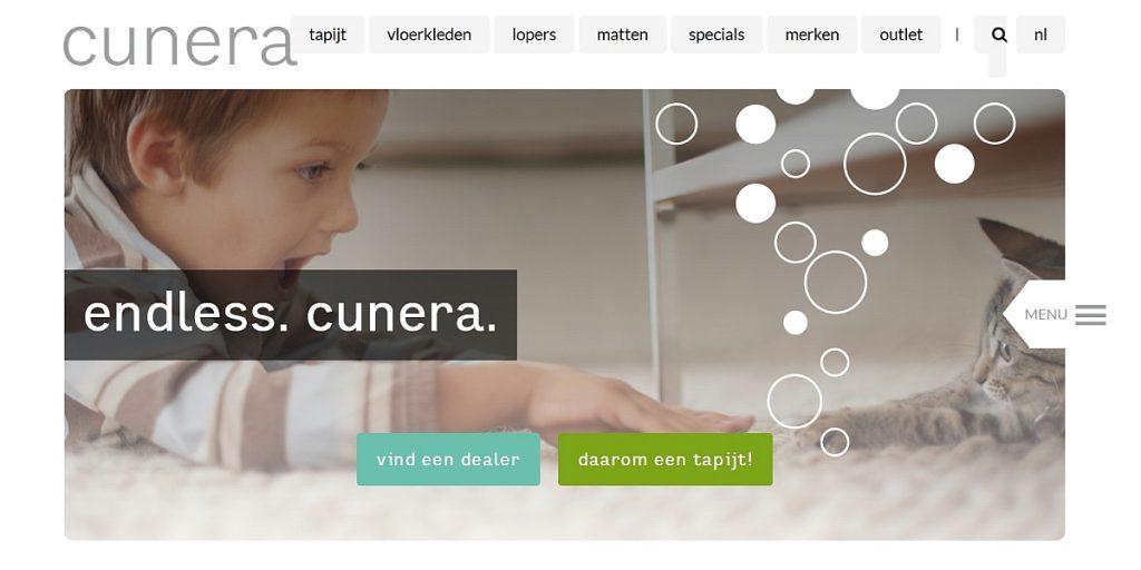 Cunera vloerbedekking website