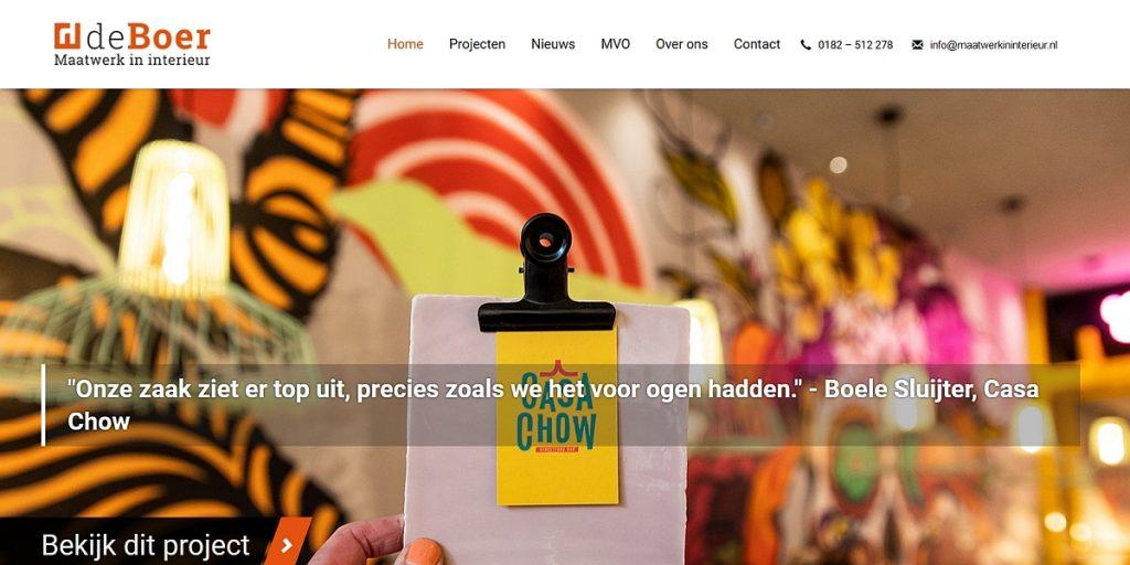 De Boer maatwerk in interieur website