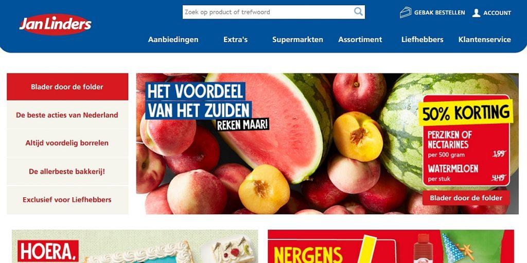 Jan Linders Supermarkten website