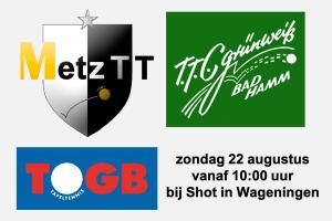 Internationaal tafeltennis bij Shot: Bad Hamm, MetzTT en TOGB @ TTV Shot