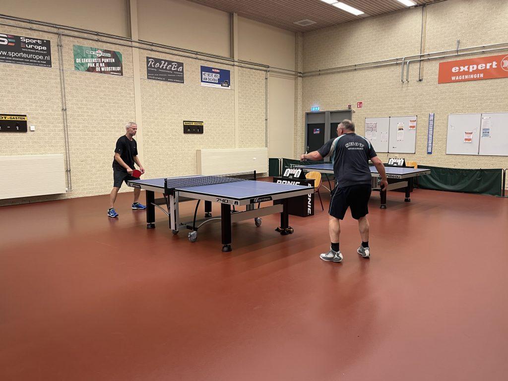 Clubkampioenschappen 2021 Brons Joop van Raaij tegen Wilce van de Top